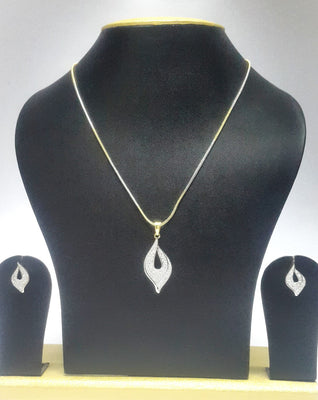 Cubic Zirconia Necklace Earring Set - Jewellery - SharePyar