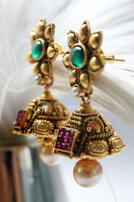 Cute Antique Jhumkas - Jewellery - SharePyar