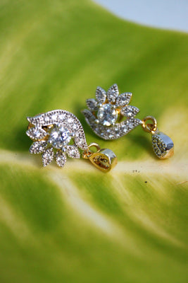 Cute Flower CZ Studs - Jewellery - SharePyar