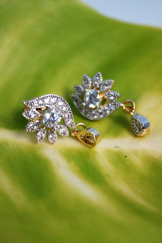 Cute Flower CZ Studs - SharePyar - 1