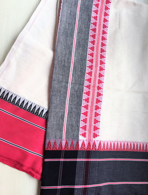 Double Bordered Cotton Saree - Sarees - SharePyar