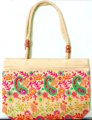 Embroidered Cloth Bag (Pattern5) - Wallets - SharePyar