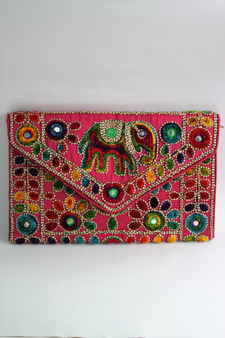 Embroidered Sling Bag with Velvet Thread Work - SharePyar - 1