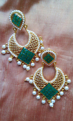 Emerald Green Fashion Teardrop Earrings - Jewellery - SharePyar