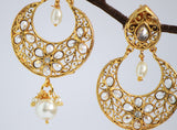 Enriched Gold Plated Fashion Drop Earring, White - Jewellery - SharePyar