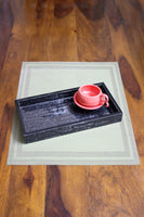 Equation Enamel Serving Tray