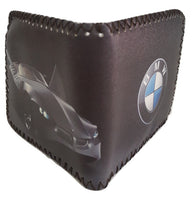 Fashion PU Leather Wallet, Design -BMW, Black