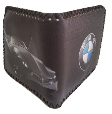 Fashion PU Leather Wallet, Design -BMW, Black - SharePyar - 1