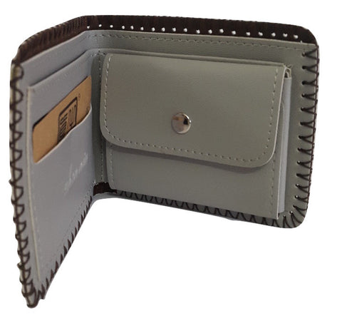 Fashion PU Leather Wallet, Design -Mercedes - Benz Grey - SharePyar - 1