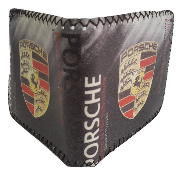 Fashion PU Leather Wallet, Design -Porsche Chocolate - SharePyar - 1