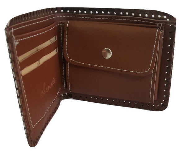 Fashion PU Leather Wallet, Design -Porsche Chocolate - SharePyar - 4