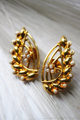 Front & Back Double Sided Golden Studs - Jewellery - SharePyar