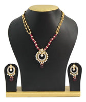 Elegant Fusion Kundan Necklace Set