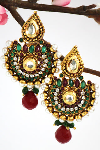 Gold Plated Antique Earrings - SharePyar - 1