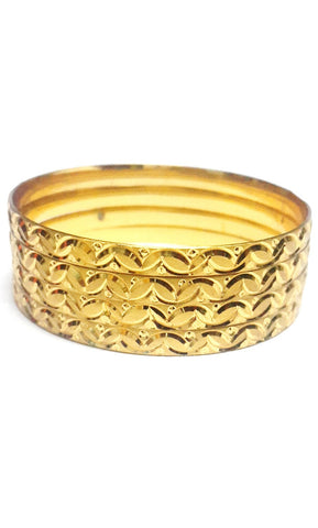 Gold Plated Bangles Set of Four - SharePyar - 1