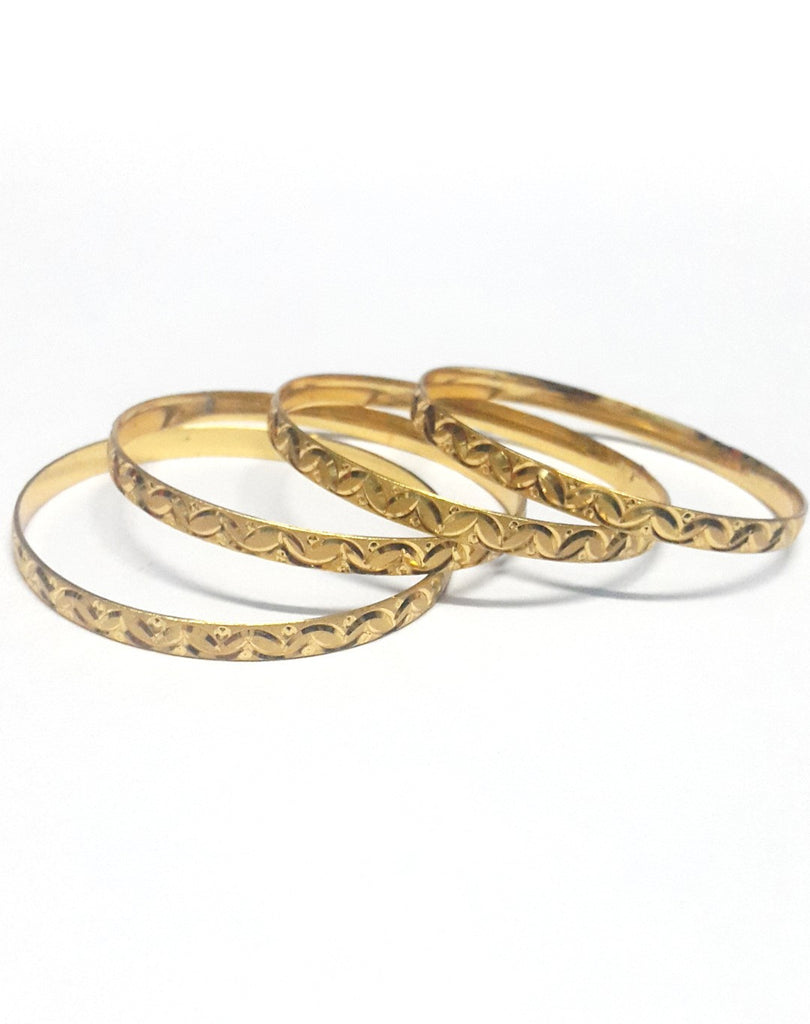 Gold Plated Bangles Set of Four - Jewellery - SharePyar