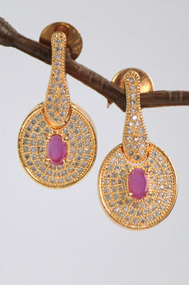 Gold Plated Cubic Zirconia Earrings - Jewellery - SharePyar
