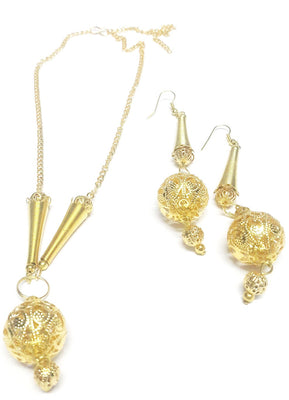 Gold Plated Pendant Set - Jewellery - SharePyar
