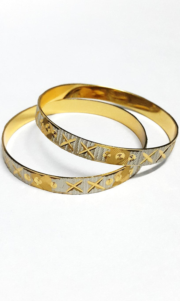 Gold Plated Silver Finish Bangles - Jewellery - SharePyar