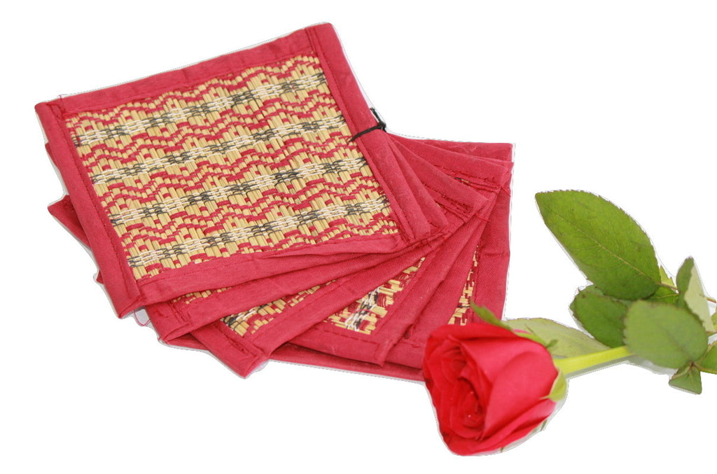 Grass Coaster Handmade - set of 6 - Coasters - SharePyar