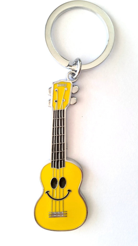 Guitar Metal Key Chain (Yellow) - Key Chains - SharePyar