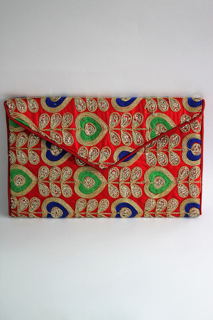 Handcrafted Ethnic Zari Embroidered Sling Bag - Wallets - SharePyar