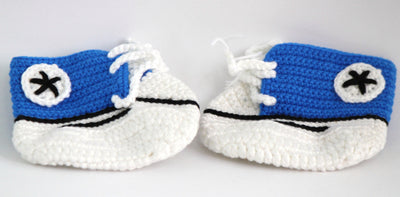Handmade Crochet Shoes for NewBorn Baby - Blue - Baby Shoes - SharePyar