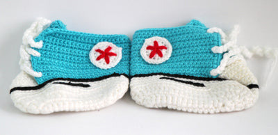 Handmade Crochet Shoes for NewBorn Baby - Copper Sulphate - Baby Shoes - SharePyar