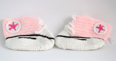 Handmade Crochet Shoes for NewBorn Baby - Pink - Baby Shoes - SharePyar