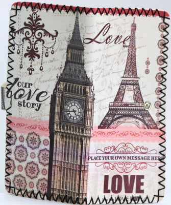 Handmade graffiti women Long purse (The Eiffel Tower - Big Ben) - Wallets - SharePyar