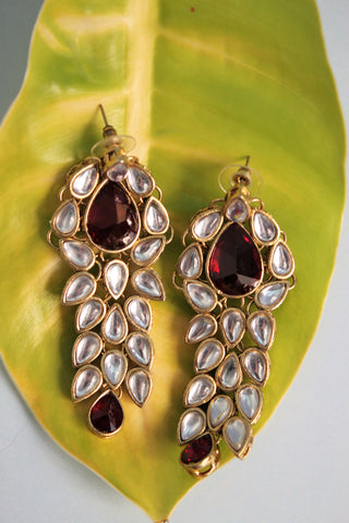 Kundan Drop Party Earrings