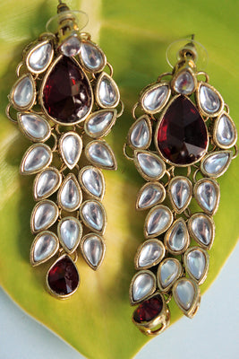 Kundan Drop Party Earrings - Jewellery - SharePyar