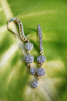 Long Circle Hook CZ Earrings - Jewellery - SharePyar