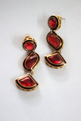Maroon Danglers Earrings - Jewellery - SharePyar