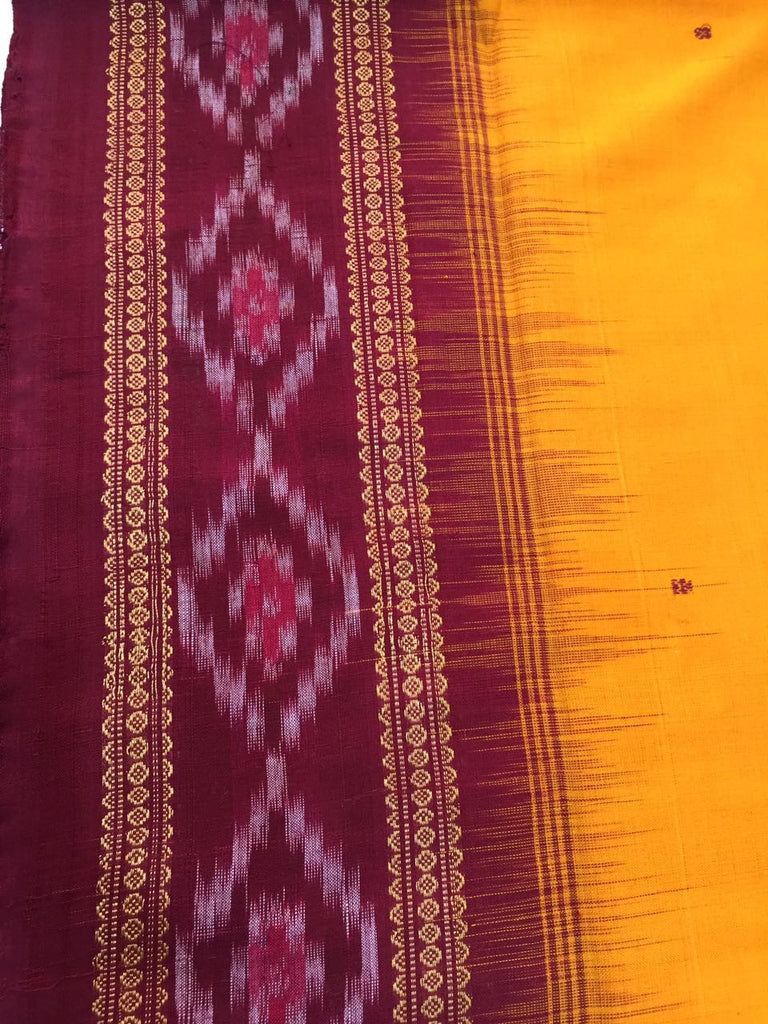 This Saree is a Ikat Bandha Saree (Bandha is an artistic design having its roots in the culture of Odisha)