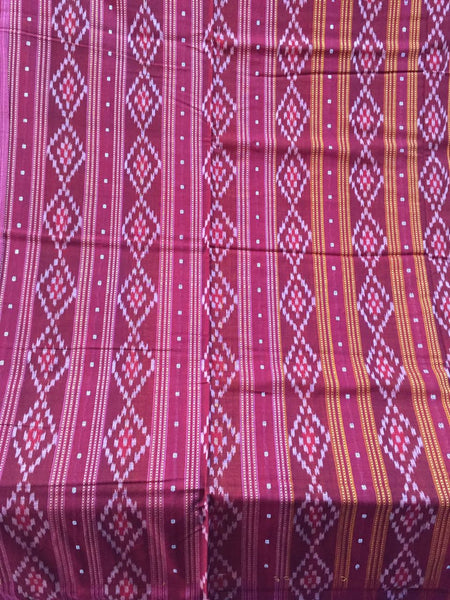 100% Handloom Sarees from Odisha - Weavers from Sambalpur and nearby areas conceptualize the design, draws it and according to the design, they color the yarn by Organic color, all by hand