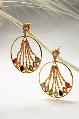 Multicolored Hoop Earrings - Jewellery - SharePyar