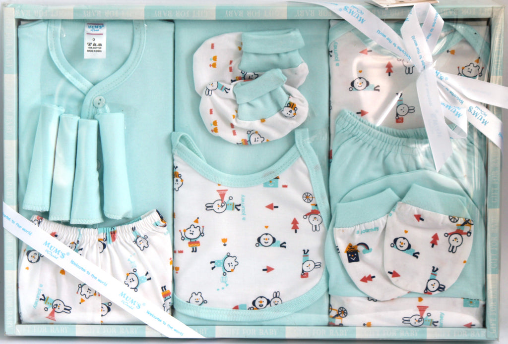 Newborn Baby Gift Set, 13 Pieces, Baby Boy - Baby Gift Set - SharePyar