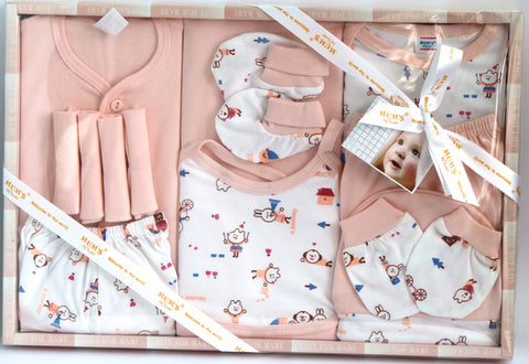 Newborn Baby Gift Set, 13 Pieces, Baby Girl - SharePyar - 1