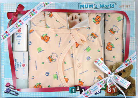 Newborn Baby Gift Set, Baby Girl, 6 Piece Set - SharePyar - 1