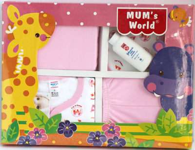 Newborn Baby Gift Set for Girls, 5 Piece Set - SharePyar - 1
