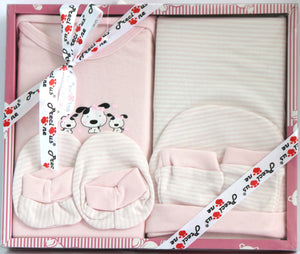 """Precious One"" Newborn Light Pink Gift Set,  5 Pieces, Girls - Baby Gift Set - SharePyar"