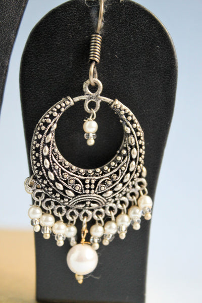 Oxidised Bali with White Beads - SharePyar - 3