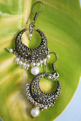 Oxidised Bali with White Beads - Jewellery - SharePyar