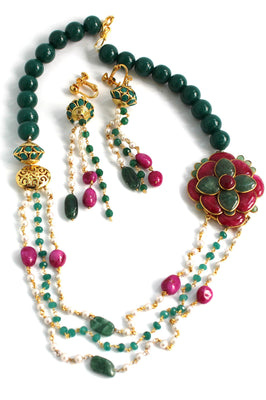 Pachi Designer Contemporary Necklace Set - Jewellery - SharePyar