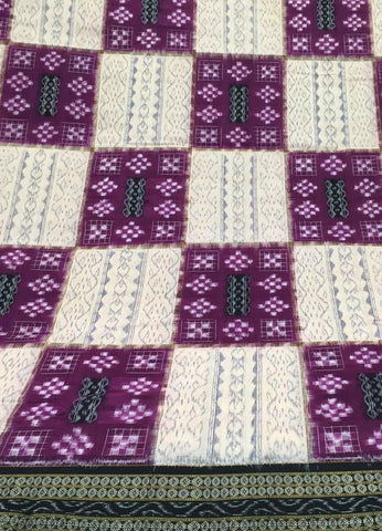 Pasapalli Box Design  Small Sapta Sambalpuri IKAT Cotton Saree - SharePyar - 1
