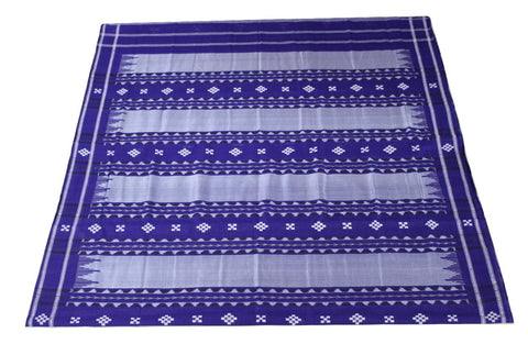 Pata Bapta Sambalpuri Plates Design Half Cotton Half Silk Saree, Hand Woven, Light purple/ Violet - SharePyar - 1