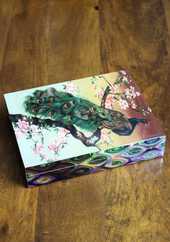 Peacock Decorative Wooden Box - SharePyar - 1