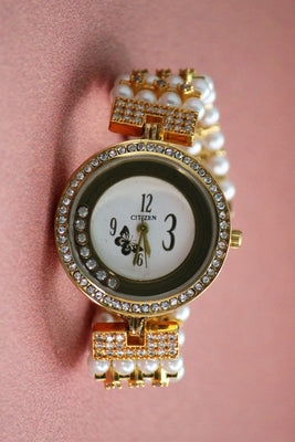 Pearl American Diamond Fashion Watch - Jewellery - SharePyar
