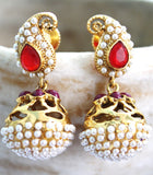 Pearl Antique Dangle Jhumka Earrings - Jewellery - SharePyar